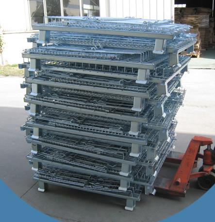 北京老客户订购的15台折叠式仓储笼发货