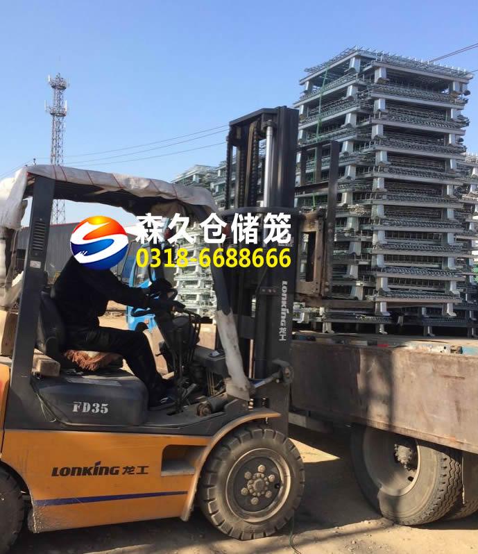 沧州50台折叠式仓储笼成功发货